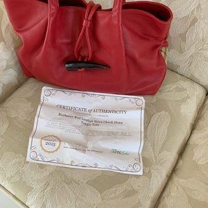 Red Burberry Handbag NWOT
